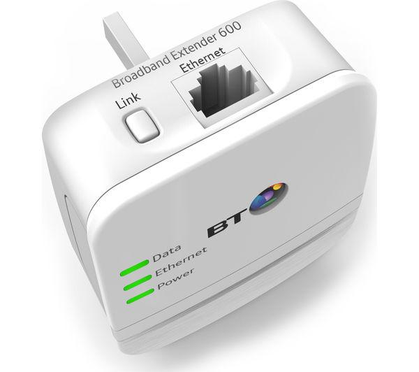 BT Broadband Extender 600 Powerline Adapter Kit - Twin Pack