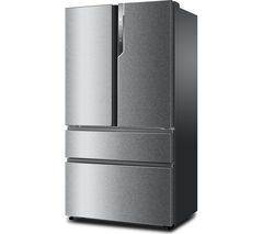 HAIER HB25FSSAAA American-Style Fridge Freezer - Stainless Steel