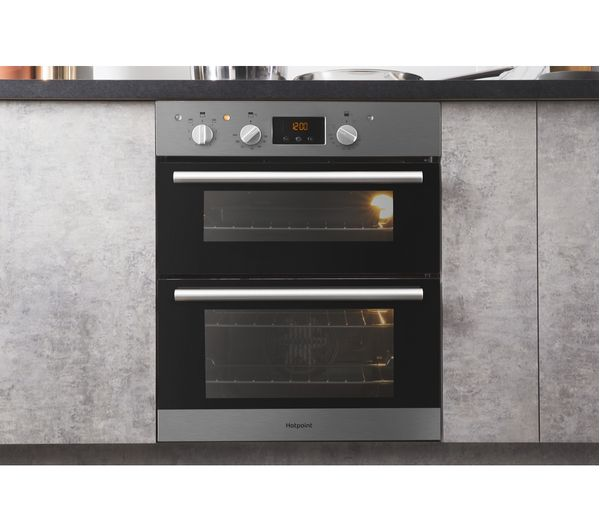 buy hotpoint class 2 du2 540 ix electric built under double oven stainless steel free. Black Bedroom Furniture Sets. Home Design Ideas