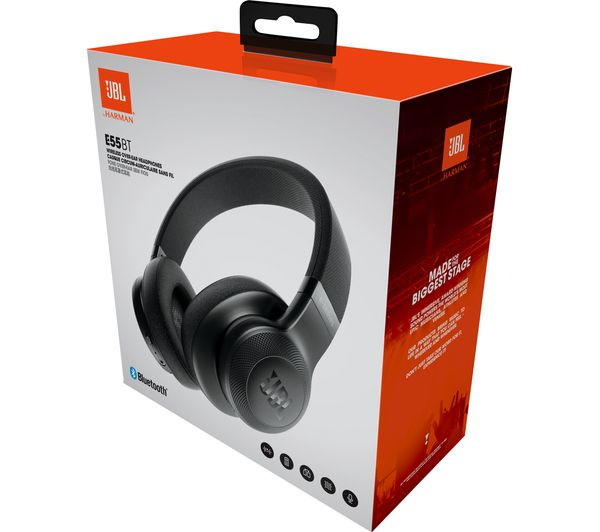 7118bb4f351 Buy JBL E55BT Wireless Bluetooth Headphones - Black | Free Delivery ...