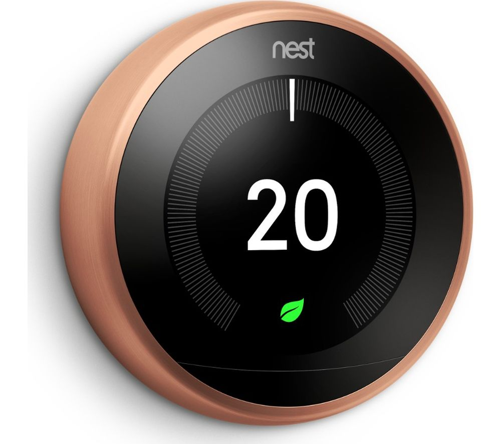 GOOGLE Nest Learning Thermostat - 3rd Generation, Copper