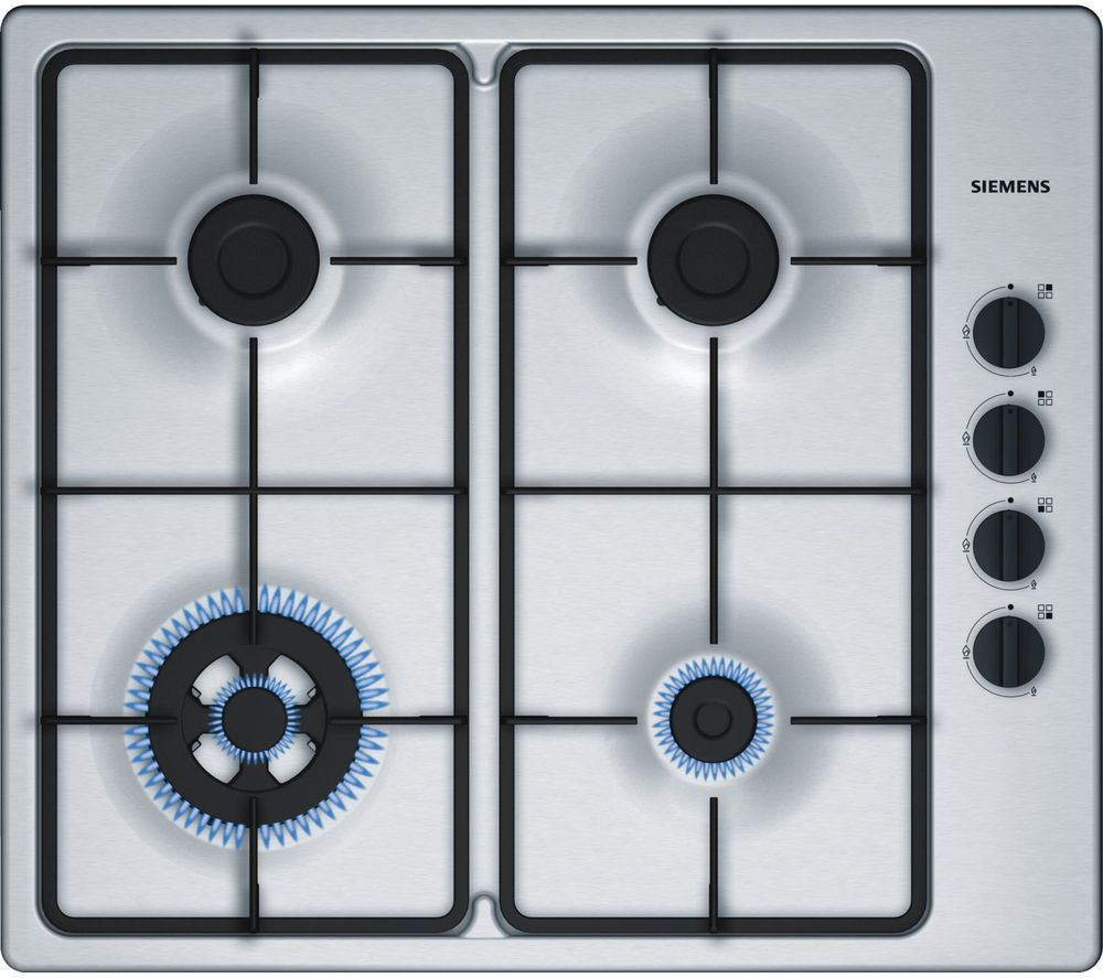 Image of SIEMENS EB6B5HB60 Gas Hob - Stainless Steel, Stainless Steel