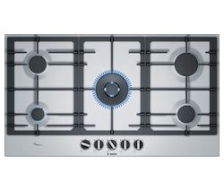 BOSCH Serie 6 PCR9A5B90 Gas Hob - Stainless Steel
