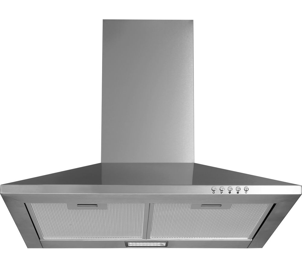 LOGIK L60CHDX17 Chimney Cooker Hood - Stainless Steel