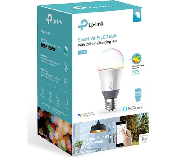 TP-LINK LB130 Smart WiFi LED Bulb - E27 with B22 Adapter