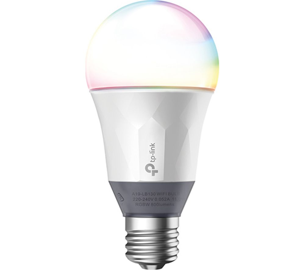 TP-LINK LB130 Smart WiFi LED Bulb with Colour Changing Hue - E27 with B22 Adapter