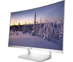 "HP 27 Full HD 27"" Curved LED Monitor - White & Silver"