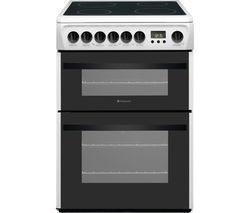 HOTPOINT Newstyle DCN60P 60 cm Electric Ceramic Cooker - White