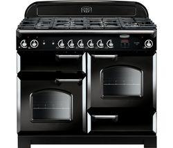 Classic 110 Gas Range Cooker - Black & Chrome