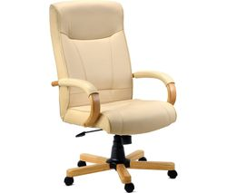 TEKNIK 85 Series 8513 Bonded-leather Reclining Executive Chair - Knightsbridge Cream