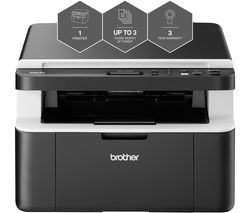 BROTHER All In Box DCP1612WVB Monochrome All-in-One Wireless Laser Printer Bundle