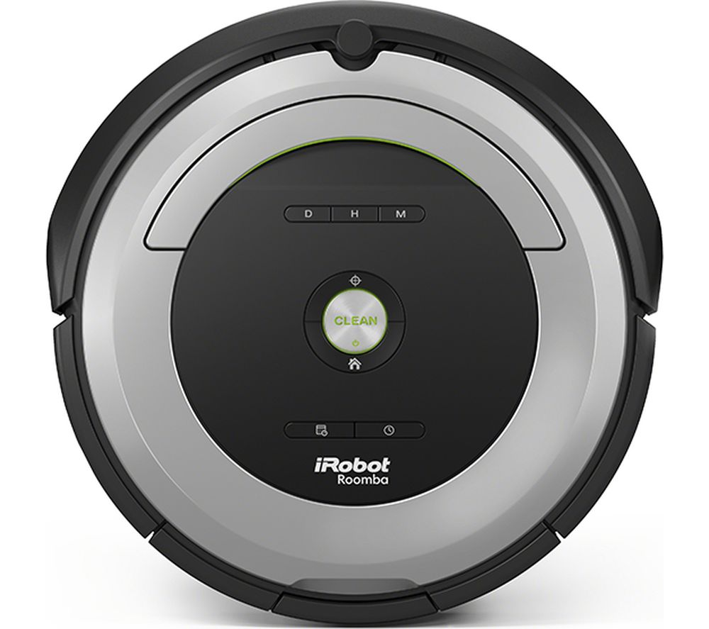 IROBOT Roomba 680 Robot Vacuum Cleaner - Black & Grey, Black