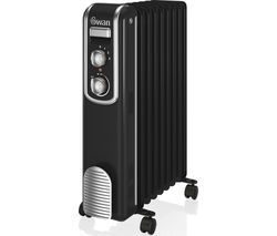SH60010BN Portable Oil-Filled Radiator - Black