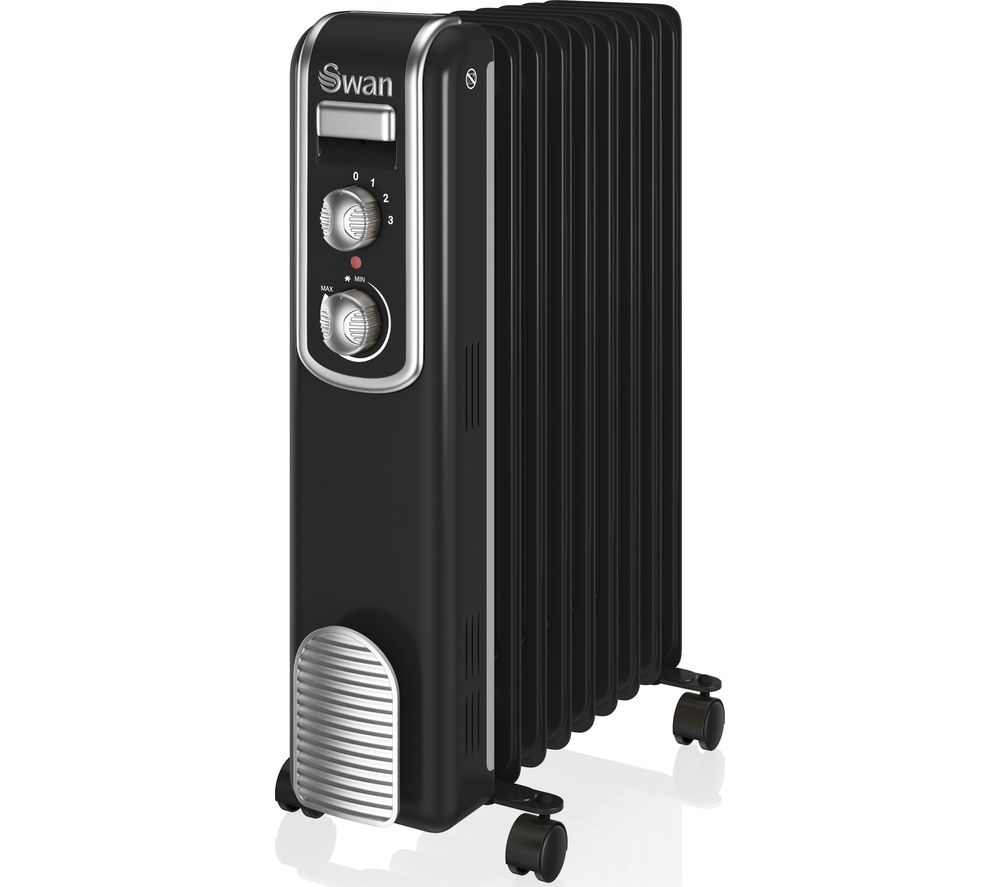 SWAN SH60010BN Portable Oil-Filled Radiator - Black