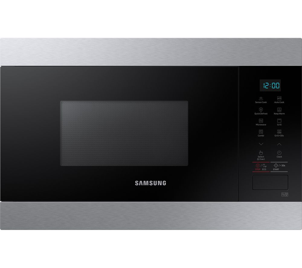 SAMSUNG MG22M8074AT/EU Built-in Microwave with Grill - Black & Stainless Steel, Black