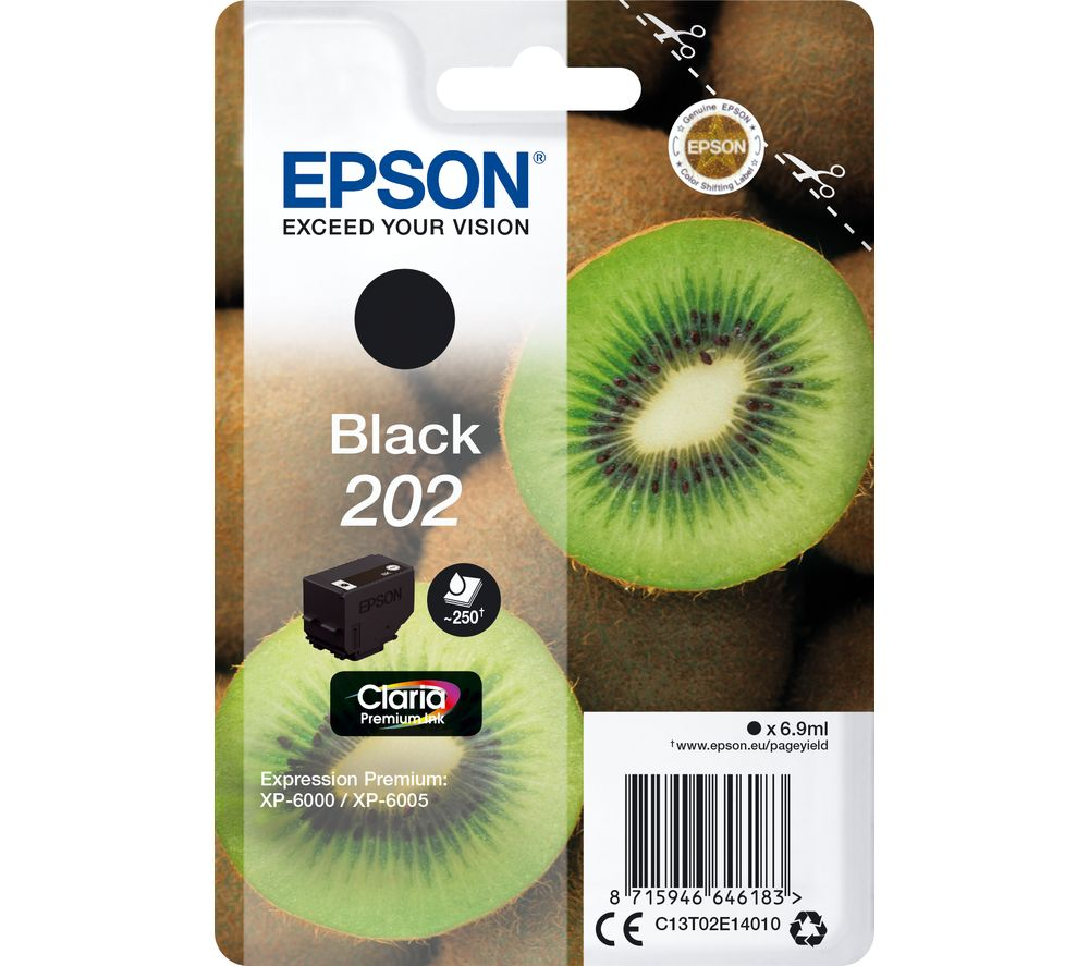 EPSON 202 Kiwi Black Ink Cartridge, Black