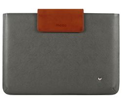 MOZO Saffiano Surface Laptop Sleeve - Steel Grey