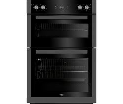 BEKO Pro BXDF29300Z Electric Double Oven - Black Steel