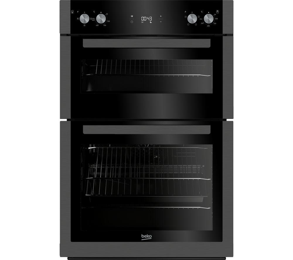 BEKO Pro BXDF29300Z Electric Double Oven - Black Steel