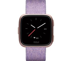 FITBIT Versa Special Edition Smartwatch - Woven Strap, Lavender