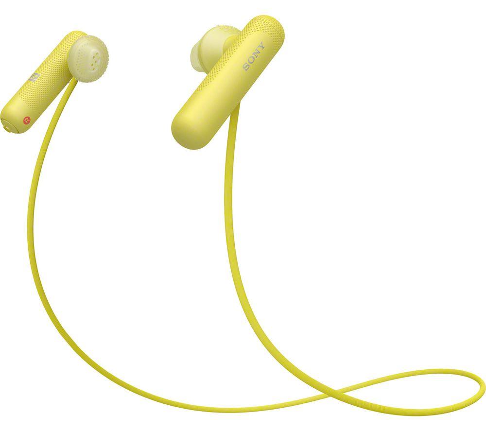 SONY Sports WI-SP500Y Wireless Bluetooth Headphones - Yellow