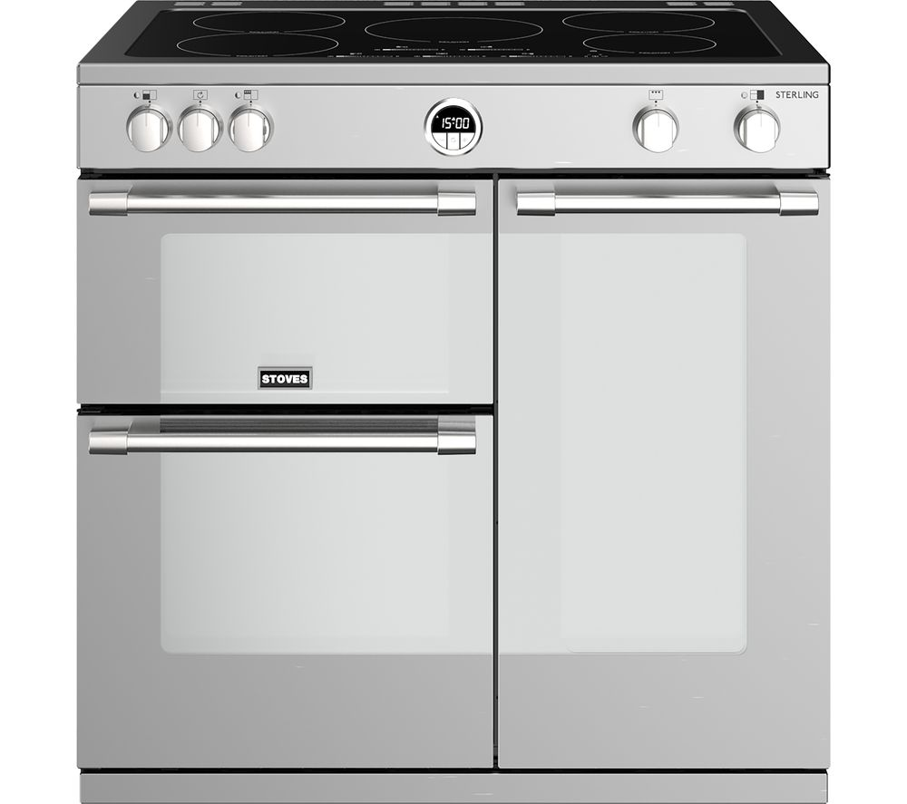 Image of STOVES Sterling S900Ei 90 cm Electric Induction Range Cooker - Stainless Steel, Stainless Steel