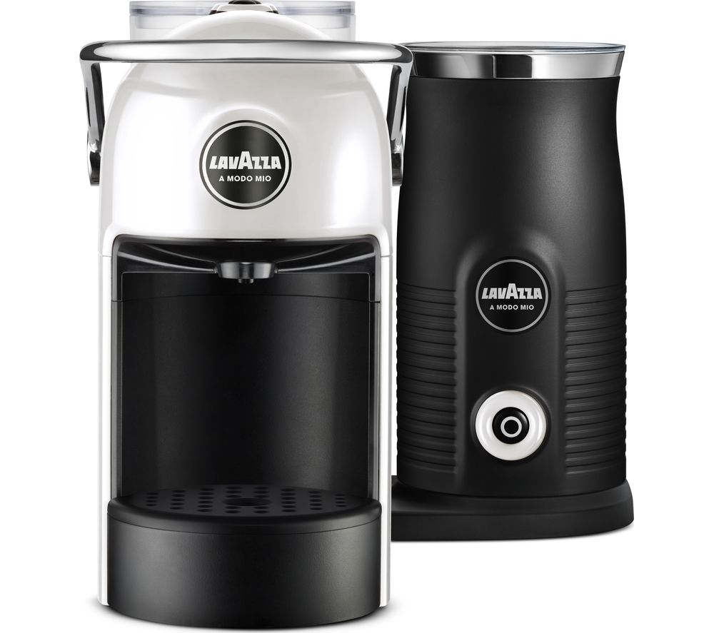 LAVAZZA Jolie & Milk Coffee Machine – White, White