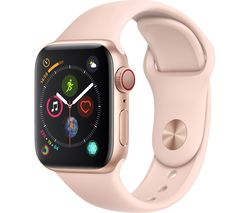 APPLE Watch Series 4 Cellular - Gold & Pink Sports Band, 40 mm