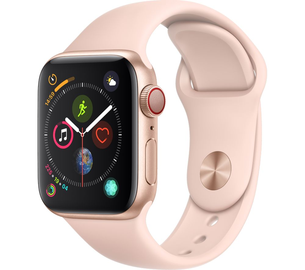 APPLE Watch Series 4 Cellular Gold Pink Sports Band 40 mm Gold cheapest retail price