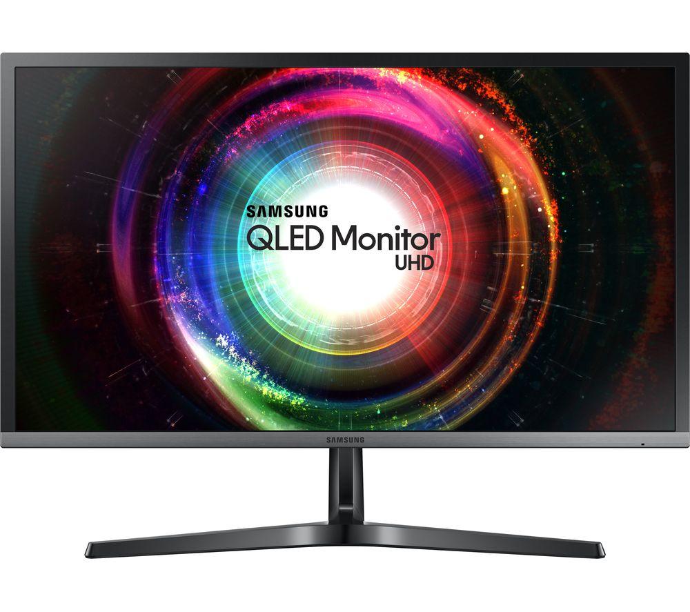 "SAMSUNG LU28H750UQUXEN 4K Ultra HD 28"" LED Monitor - Black"