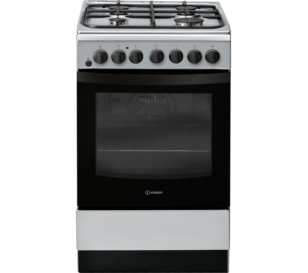 INDESIT IS5G4PHSS 50 cm Duel Fuel Cooker - Silver