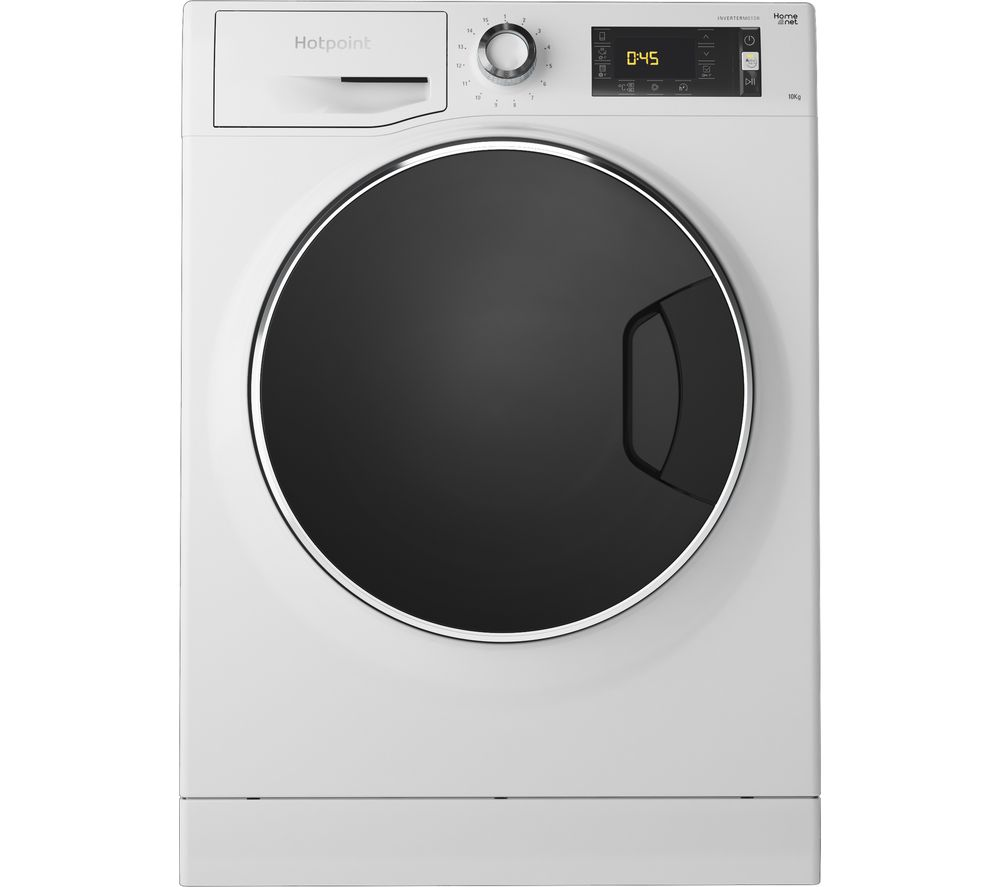 HOTPOINT ActiveCare NLLCD 1045 WD AW UK WiFi-enabled 10 kg 1400 Spin Washing Machine - White, White