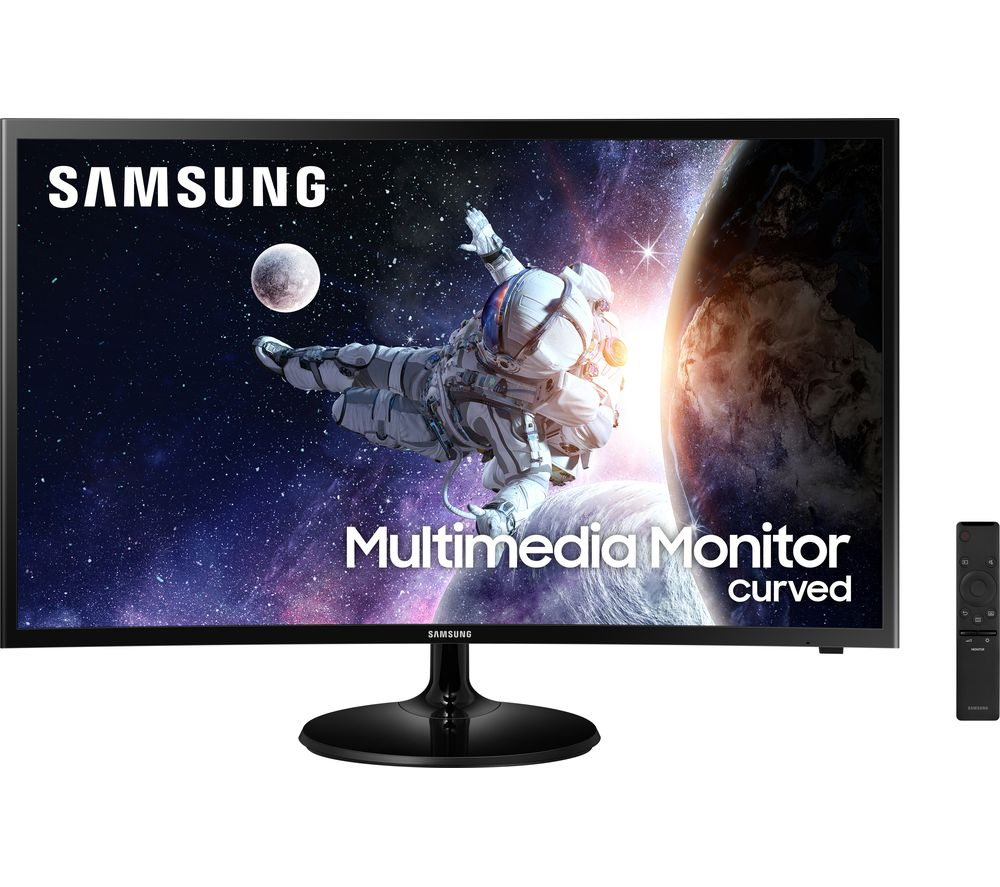 "SAMSUNG LC32F39MFUUXEN Full HD 32"" Curved LED Monitor - Black"
