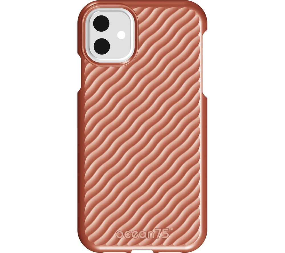 Image of Ocean Wave iPhone 11 Case - Coral, Coral