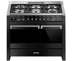 Opera A2BL-81 100 cm Dual Fuel Range Cooker - Black & Stainless Steel