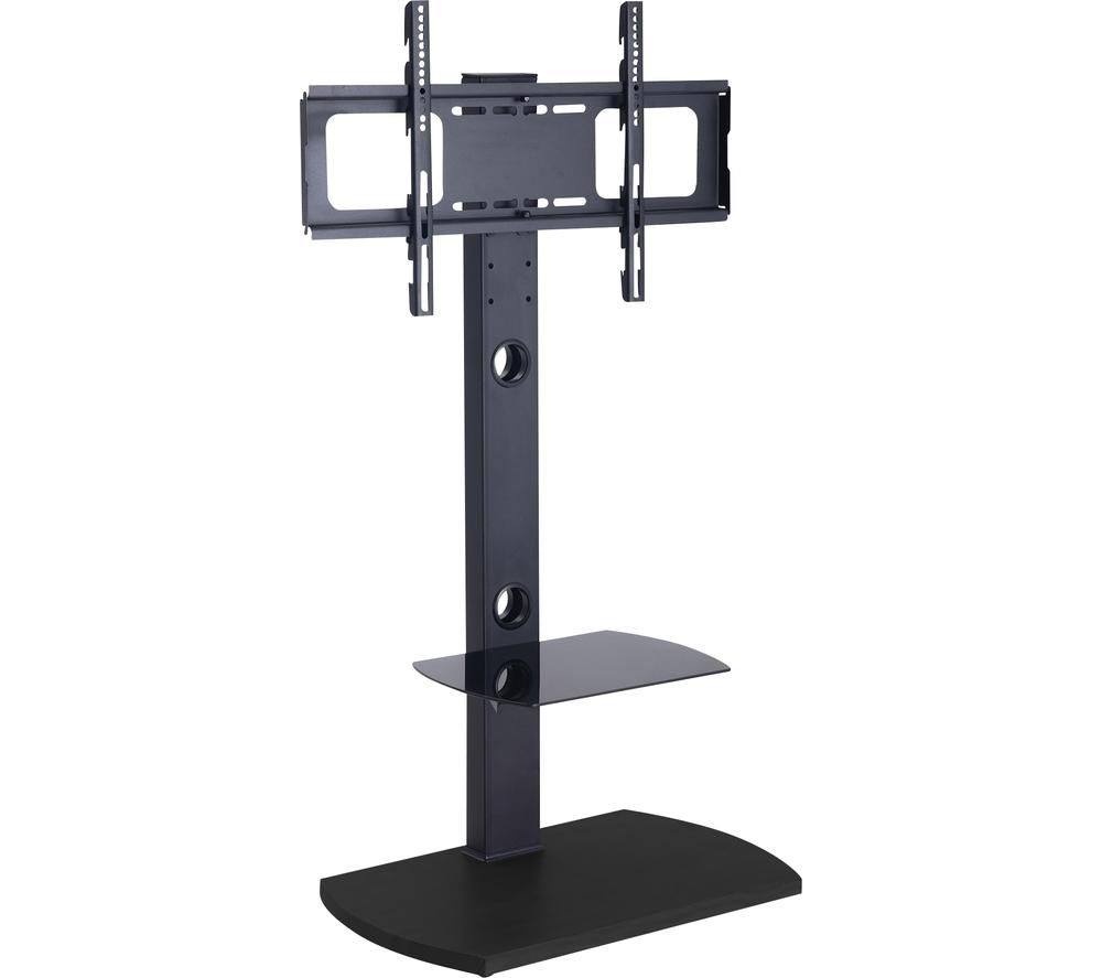 """TTAP FS1-BLK Up to 55"""" TV Stand with Bracket – Black"""