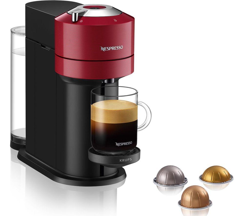 NESPRESSO by KRUPS Vertuo Next Coffee Machine - Red