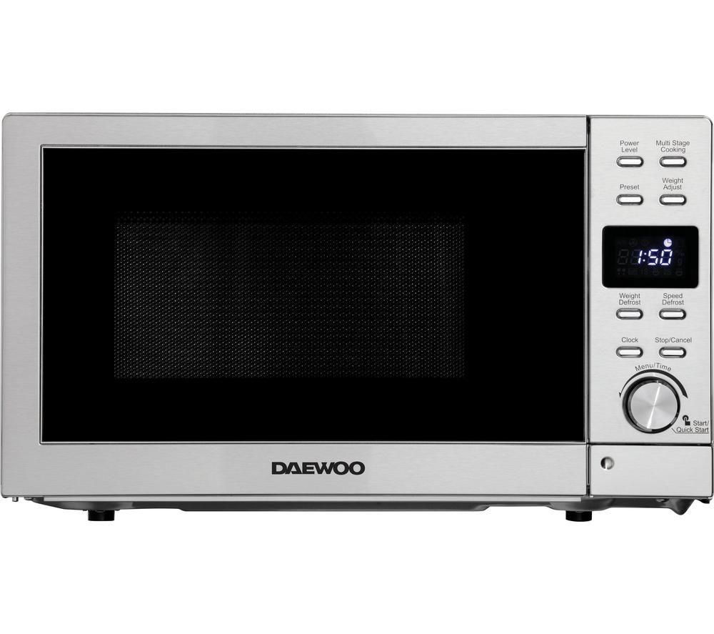 DAEWOO SDA2089GE Solo Microwave - Silver, Silver