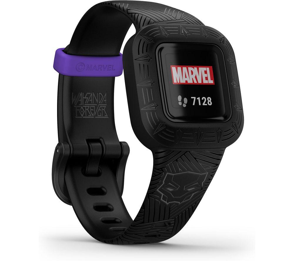 GARMIN vivofit jr. 3 Kid's Activity Tracker - Marvel Black Panther, Adjustable Band