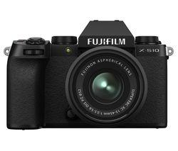 X-S10 Mirrorless Camera with FUJINON XC 15-45 mm f/3.5-5.6 OIS PZ Lens - Black