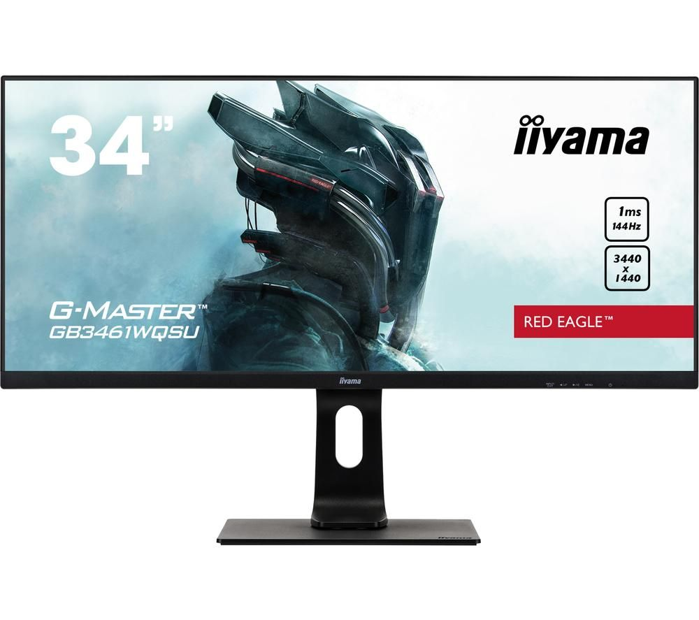"Image of IIYAMA G-MASTER Red Eagle GB3461 Quad HD 34"" LED Gaming Monitor - Black, Red"