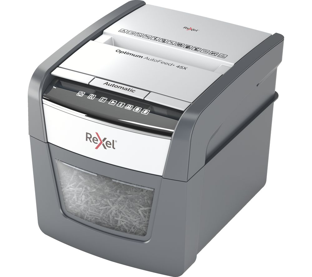 REXEL Optimum Autofeed 45X Cross Cut Paper Shredder