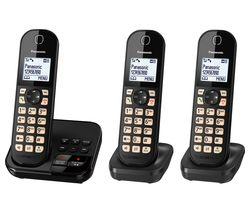 KX-TGC463EB Cordless Phone - Triple Handsets