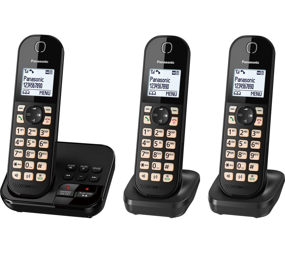Panasonic Kx Tgc463eb Cordless Phone Triple Handsets