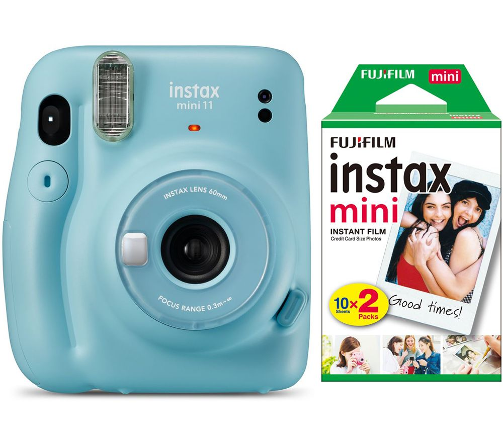 Click to view product details and reviews for Instax Mini 11 Instant Camera 20 Shot Instax Mini Film Pack Bundle Sky Blue Blue.