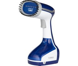 TOWER CeraGlide T22014BLU Hand Steamer - Blue & White Best Price, Cheapest Prices