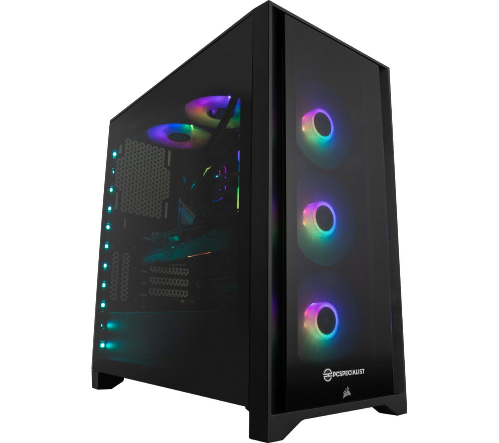 Image of PCSPECIALIST Tornado R5Q Corsair iCUE Certified Gaming PC - AMD Ryzen 5, RTX 3060, 2 TB HDD & 1 TB SSD