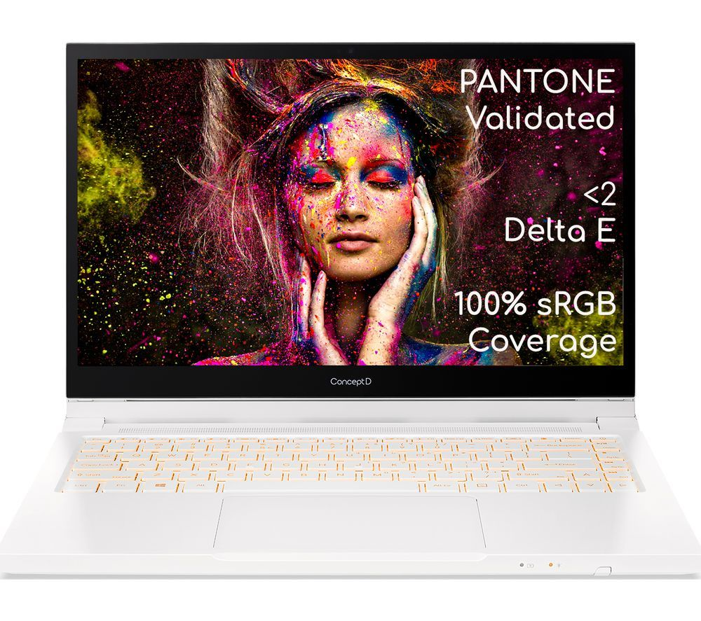 """Image of ACER ConceptD 3 Ezel 14"""" 2 in 1 Laptop - Intel®Core™ i7, 512 GB SSD, White, White"""