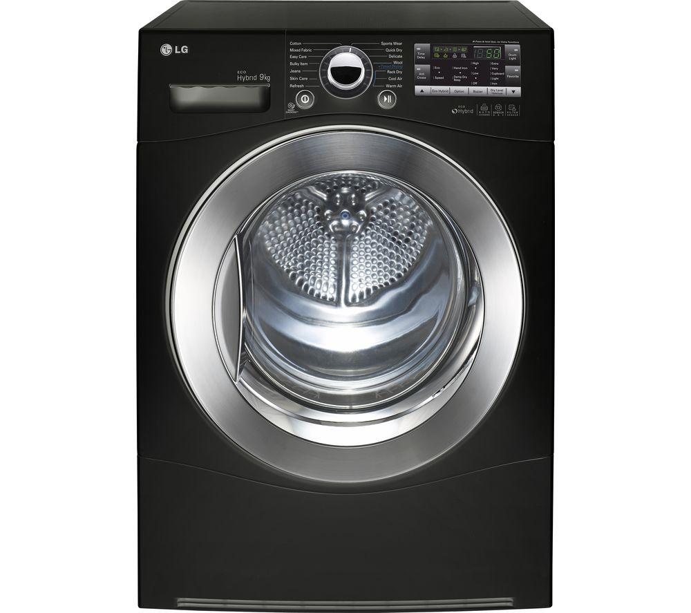 lg rc9055bp2z heat pump condenser tumble dryer black