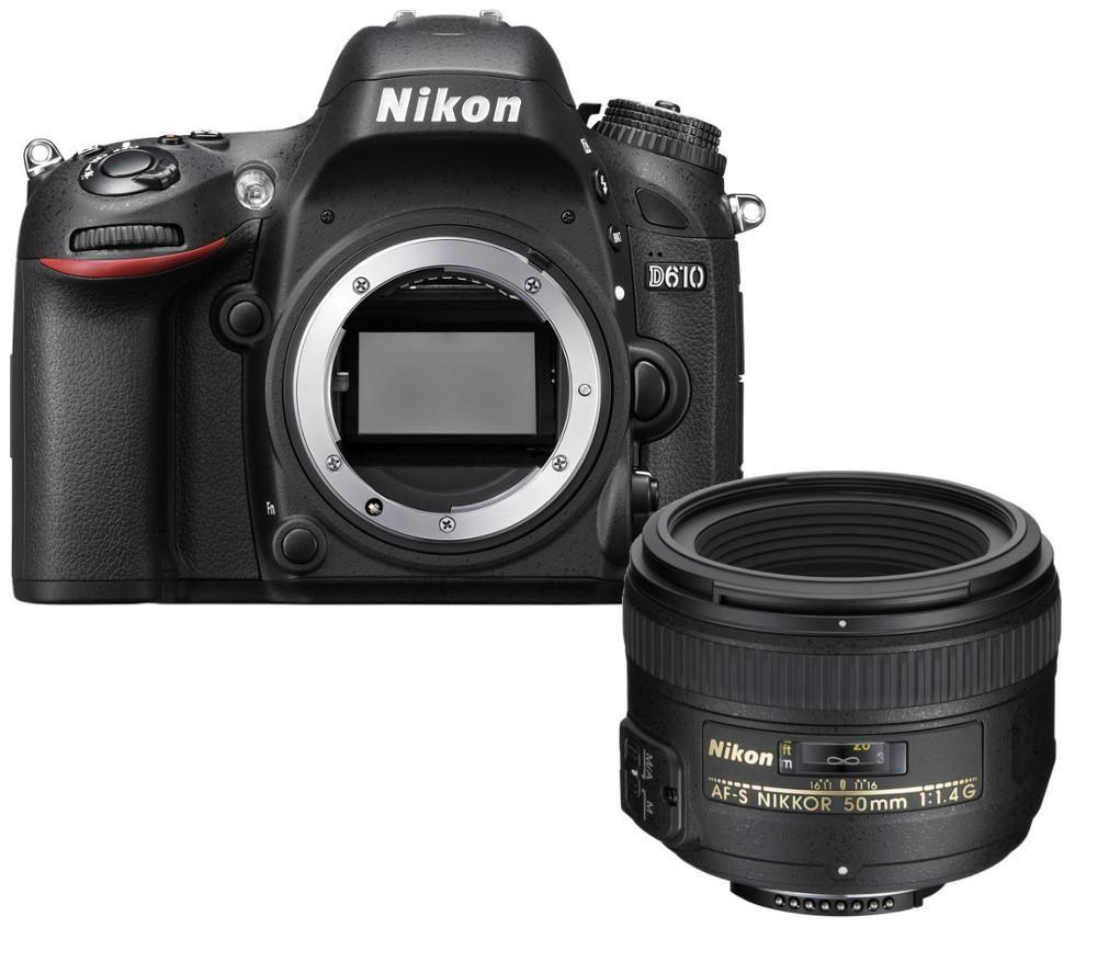 NIKON D610 DSLR Camera & AF-S NIKKOR 50 mm f/1.4 G SWM Standard Prime Lens Bundle